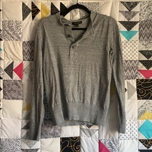 Gray Henley sweater
